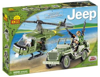Small Army JEEP Willys MB s vrtulníkem