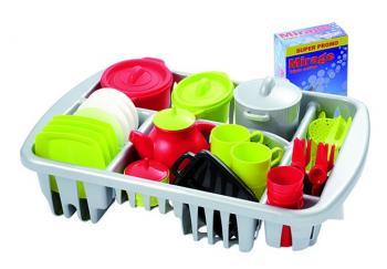 Ecoiffier Velká sada nádobí s odkapávačem