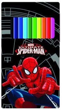 Spiderman Pastelky 12ks v plechové krabičce
