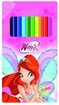 Winx  Pastelky 12ks v plechové krabičce