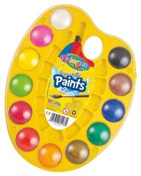 Vodové barvy - paletka