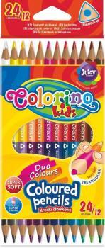 Colorino Trojhranné pastelky 24 barev (12 ks)