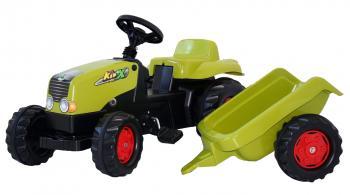 Šlapací traktor Rolly Kid s vlečkou světle zelený