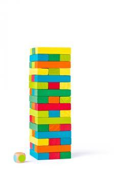 Woody Jenga věž  barevná