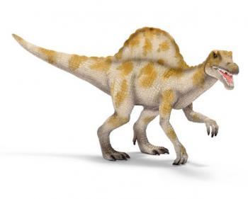 Prehistorické zvířátko Spinosaurus s pohyblivou čelistí