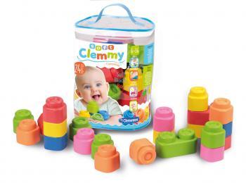 Clemmy baby 24 kostek v plastovém pytli
