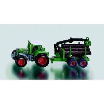 SIKU Blister - Traktor s přívěsem na klády