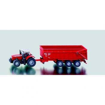 Siku Traktor Massey Ferguson s přívěsem