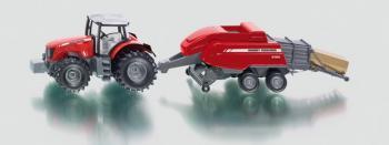 SIKU Farmer - Traktor s vlekem na tvoření balíků