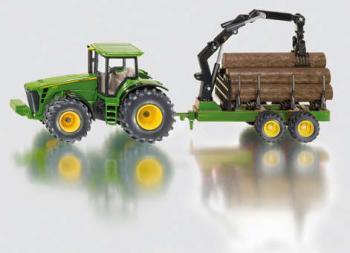 Siku Traktor John Deere s lesním přívěsem