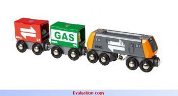 Nákladní lokomotiva se 2 vagonky