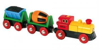 Elektrická mašinka s vagónky a světly