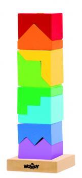 Woody Skládací věž barevná hlavolam