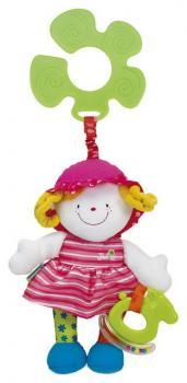 K´s Kids Veselá panenka s úchytem na kočárek Julia