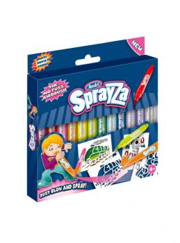 Sprayza 12-Pen & Stencils Pack