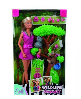 Panenka Steffi se zvířátky z džungle