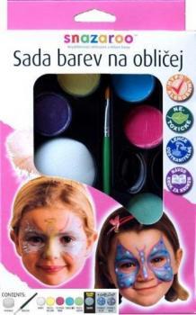 Obličejové barvy  Anděl a motýl