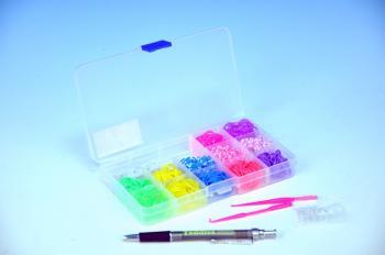 Udělej si svůj náramek - gumičky 360ks + náčiní v plastové krabičce