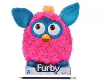 Furby plyš tmavě růžovo-modrý 20cm na podstavci
