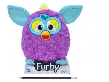 Furby plyš tmavě fialovo-modrý 20cm na podstavci