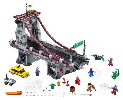 LEGO Super Heroes 76057 Spiderman: Úžasný souboj pavoučích válečníků na mostě