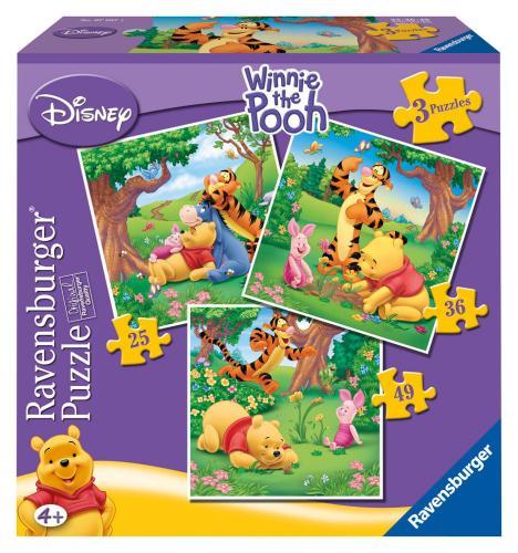 Ravensburger puzzle Medvídek Pú 3v1 25-49 dílků