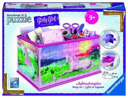 Ravensburger 3D puzzle Úložná krabice Jednorožec 216 dílků