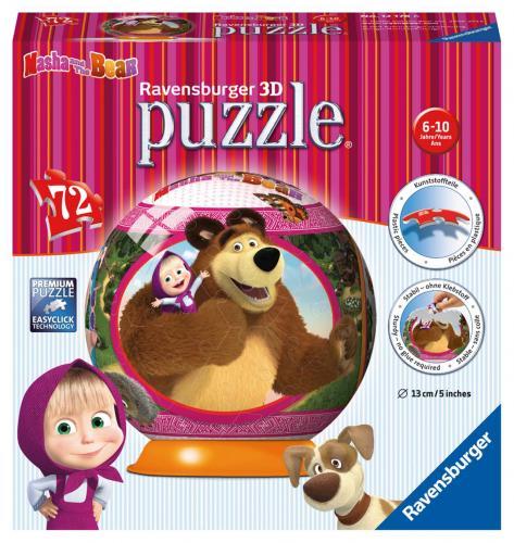 Ravensburger puzzle ball Maša a Medvěd 72 dílků