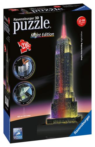 Ravensburger 3D puzzle budovy Noční edice Empire State Building 216 dílků