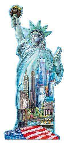 Ravensburger puzzle Socha Svobody, New York - tvarové