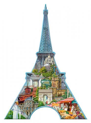 Ravensburger puzzle Eiffelova věž, Paříž - tvarové