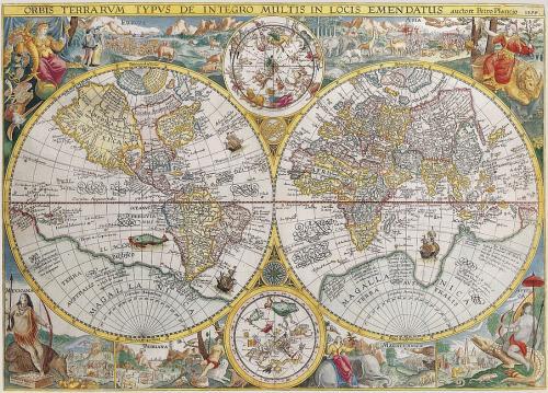 Ravensburger puzzle Historická mapa 1594 1500 dílků