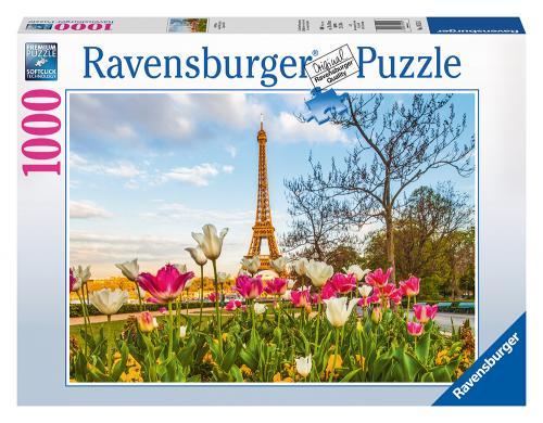 Ravensburger puzzle Eiffelova vež v tulipánech 1000 dílků