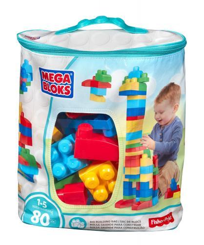 Mega Bloks Mega Kostky v plastovém pytli 80dílů