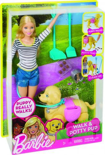 Barbie PROCHÁZKA S PEJSKEM