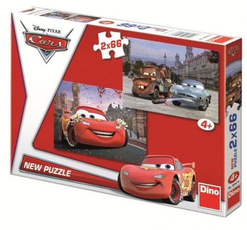 Dino puzzle Disney Cars 2x66 dílků