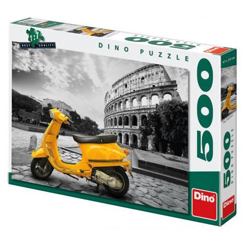 Dino puzzle Skútr u kolosea 500 dílků