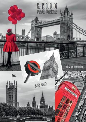 Dino puzzle Londýn - koláž 1000 dílků