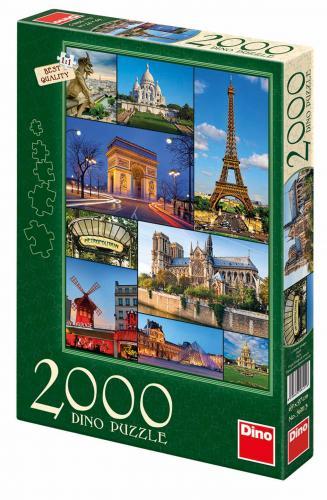Dino puzzle Paříž 2000 dílků