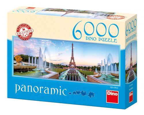Dino puzzle Pohled na Eiffelovku 6000 dílků