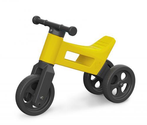 FUNNY WHEELS odrážedlo 2v1 - Sport yellow
