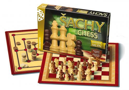Šachy,Dáma,Mlýn - nový design