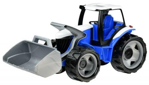 Traktor se lžící červenobílý