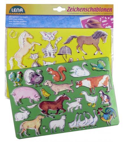 Koně, kočky kreslící šablony