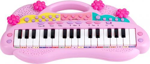 Elektronické klávesy růžové