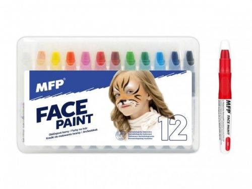 Barvy na obličej MFP 12ks