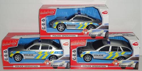 Policejní auto 1:18, 3 druhy, mluví česky