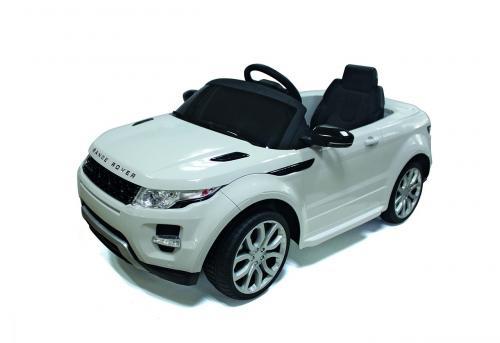 Elektrické autíčko Land Rover - bílá
