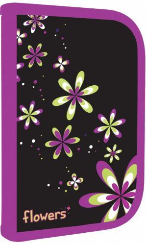 Květiny - Školní penál 1 patrový-design Květiny