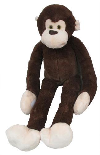 Plyšová opička, tmavě hnědá